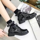 Ankle Strap Lace-up Boots