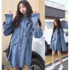Safety Pin Denim Shirt Dress