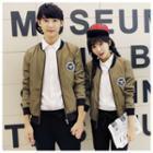 Couple Applique Baseball Jacket