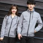 Couple Matching Printed Hooded Light Jacket