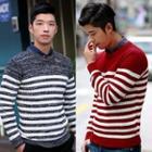 Round-neck Stripe Sweater