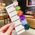 Set Of 4: Floral Hair Pin