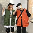 Couple Matching Cargo Vest