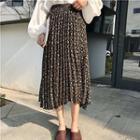 Floral Print Accordion Midi Skirt