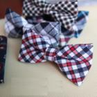 Twill Plaid Bow Tie