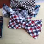 Twill Plaid Bow Tie