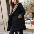 Notch Lapel Double-breasted Padded Coat