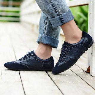 Genuine Leather Embossed Oxfords