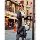 Striped Wool Blend Cardigan