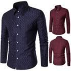 Long-sleeve Leaf-pattern Shirt