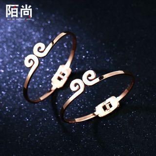 Swirl Rose Gold Plated Bangle