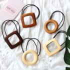 Wooden Square / Hoop Hair Tie