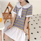 Short-sleeve Sailor Collar Mini Dress