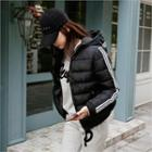 Hooded Stripe-trim Puffer Jacket