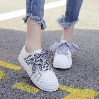 Ribbon-lace Sneakers