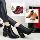 Studded Chunky-heel Ankle Boots