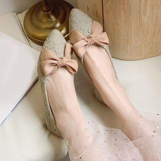Bow Patterned Flats