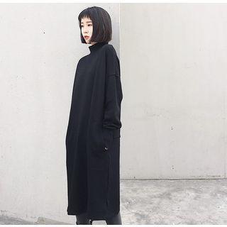 Mock-neck Pullover Dress