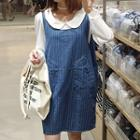 Stripe Denim Jumper Dress