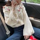 Floral Cardigan Off-white - One Size