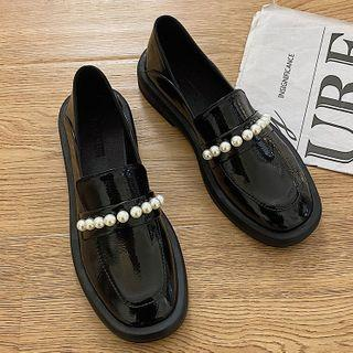 Faux Leather Patent Loafers