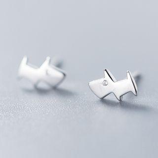 925 Sterling Silver Doggy Earring As Shown In Figure - One Size