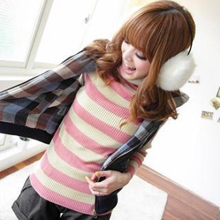 Turtleneck Striped Sweater