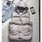 Couple Matching Padded Buttoned Hooded Vest