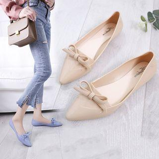 Pointed Bow Flats Shoes