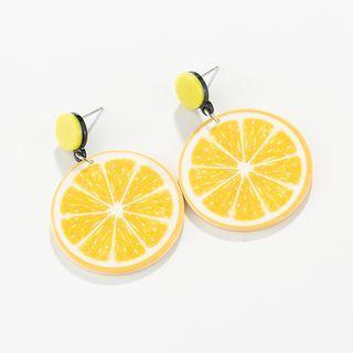Lemon Drop Earring 1 Pair - Yellow - One Size