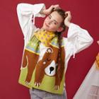 Bear Print Scarf Bear - One Size