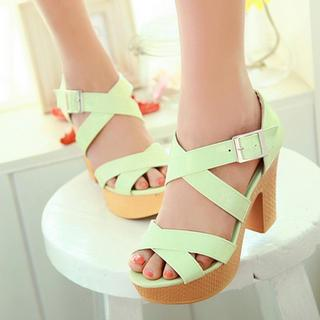 Cross-strap High-heel Sandals