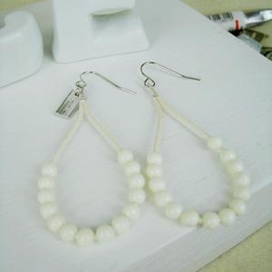 Fresh Bead Earrings(white)