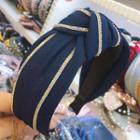 Rhinestone Trim Bow Headband