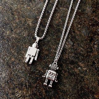 Alloy Robot Pendant Necklace