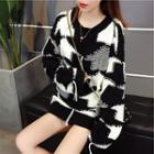 Arrow Pattern Chunky Sweater