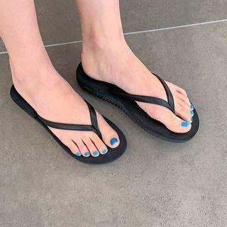Pleather-strap Flip-flops