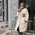 Contrast-pocket Fleece Coat