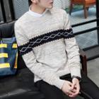 Patterned Melange Sweater