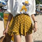 Wide-leg Dotted Shorts