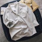Long Sleeve Striped Slim Shirt
