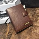 Faux Leather Passport Wallet