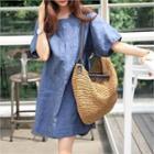 Short-sleeve Linen Dress
