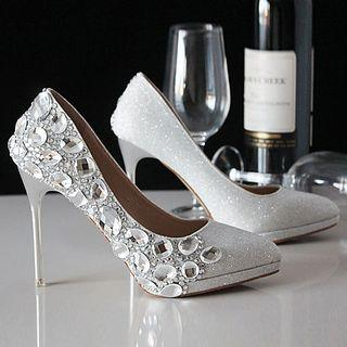 Embellished Pointy Flats / Flats