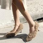 Pointy Toe Furry Pumps