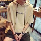 Embroidered Short-sleeve Hoodie