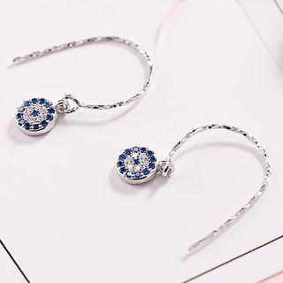 925 Sterling Silver Evil Eye Dangle Earring 1 Pair - Earring - One Size