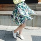Print Flared Skirt