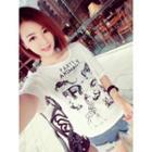 Short-sleeve Animal Print T-shirt