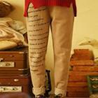 Lettering Drawstring Pants